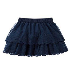 Carter's Dark Blue Lace Layered Skirt 6x